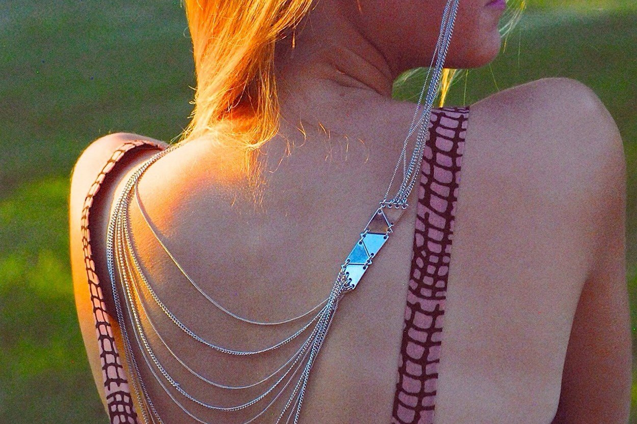 Alternate Image 1 - Sintillia Bare it All Backlace Strap Silver GlassesChainsStraps