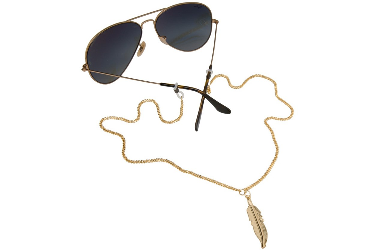 Sintillia Feather Drop Strap Gold GlassesChainsStraps
