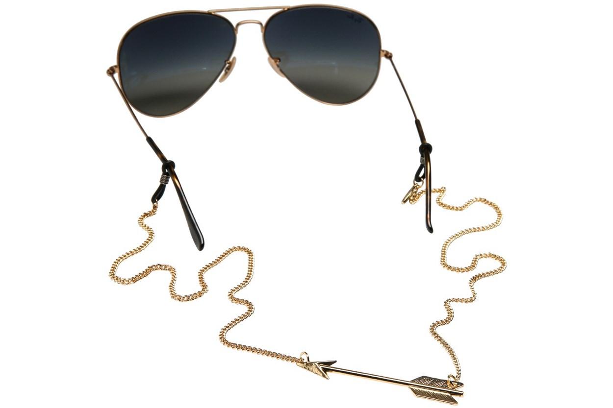 Sintillia Arrow Backlace Strap Gold GlassesChainsStraps