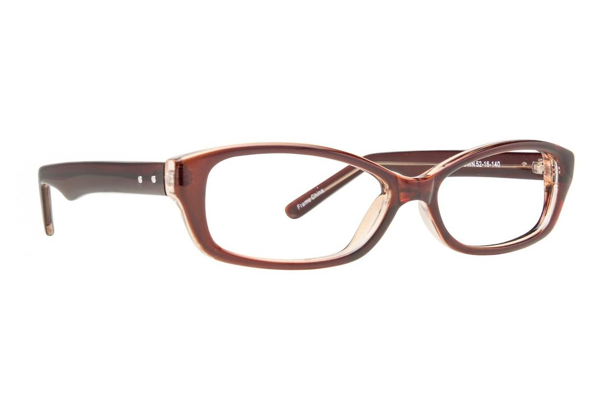 Affordable Designs Jean Brown Glasses