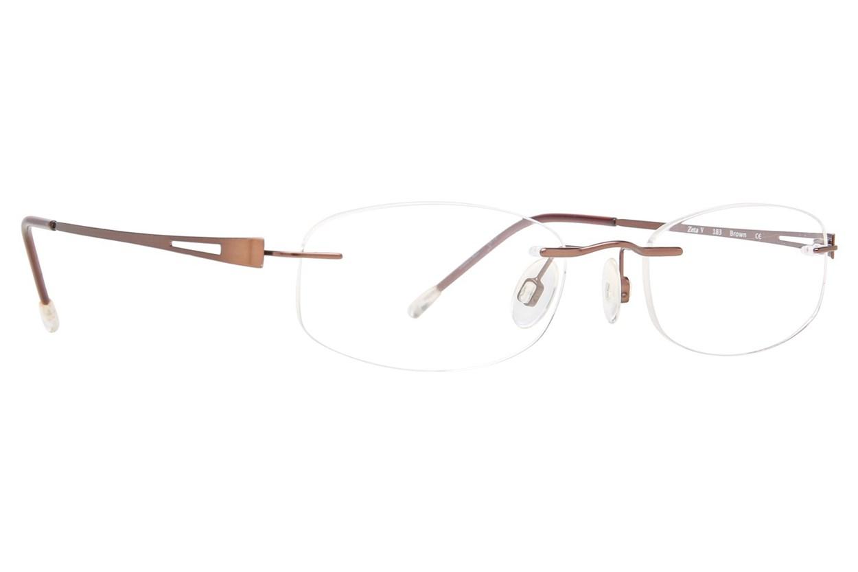 Invincilites Zeta V Brown Glasses