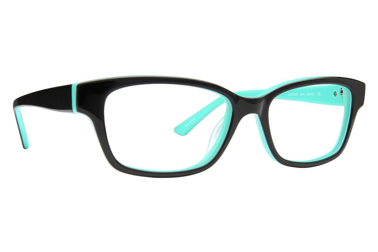 Candie's Gisele Black Glasses