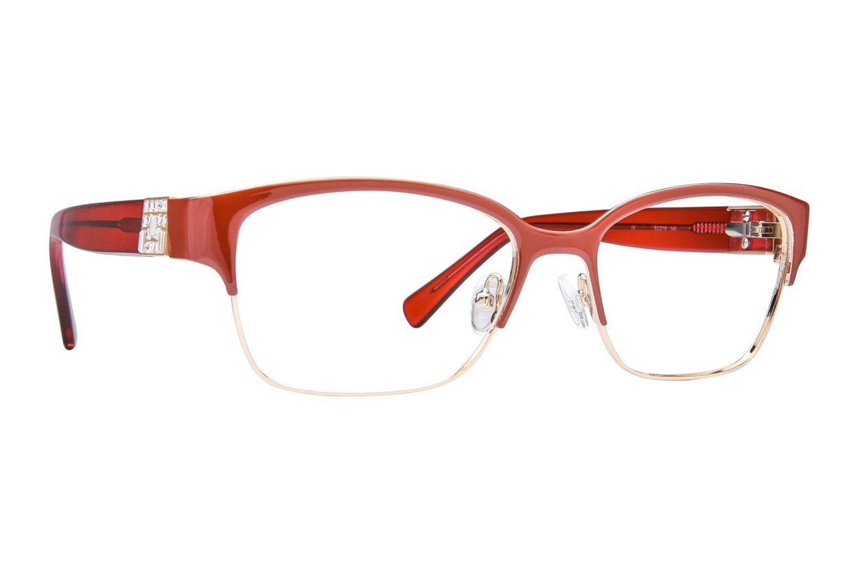 Platinum Eyewear PLO350 Red Glasses