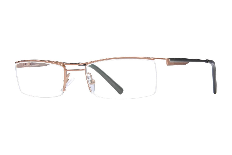 557dedd477 Buy Dragon DR113 SEATON Semi Rimless   Half Frame Prescription Eyeglasses  CalOptix Floral Roundabout Eyeglass Case - AC26688 - Accessories