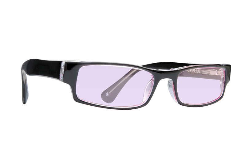 Black/Crystal/Pink Lens