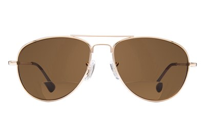 Peepers Ice Man Reading Sunglasses Gold