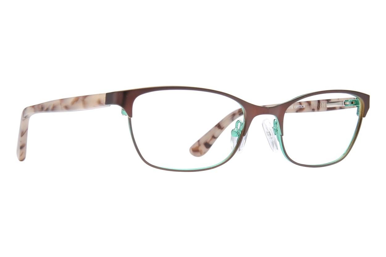 Bloom Optics Petite Jada Brown Glasses