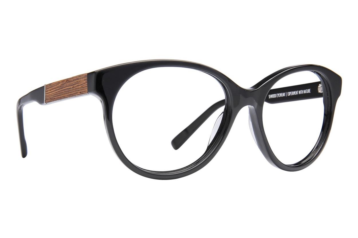 Shwood Madison Black Glasses
