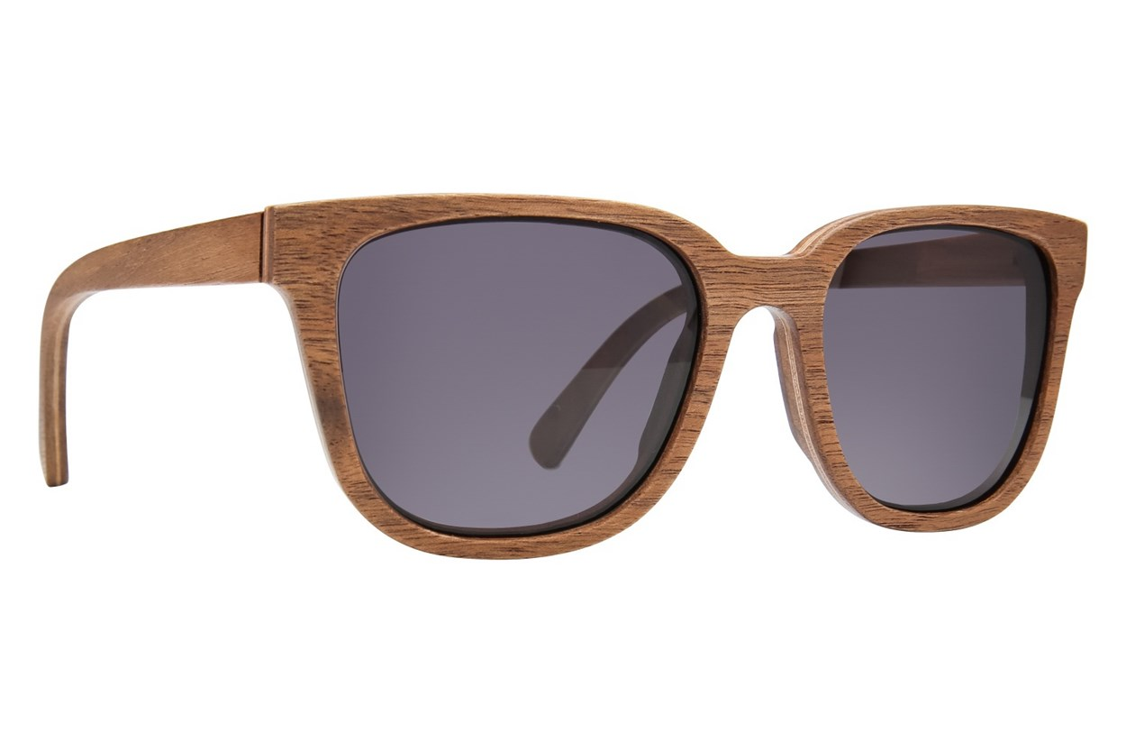 Shwood Prescott Wood Brown Sunglasses