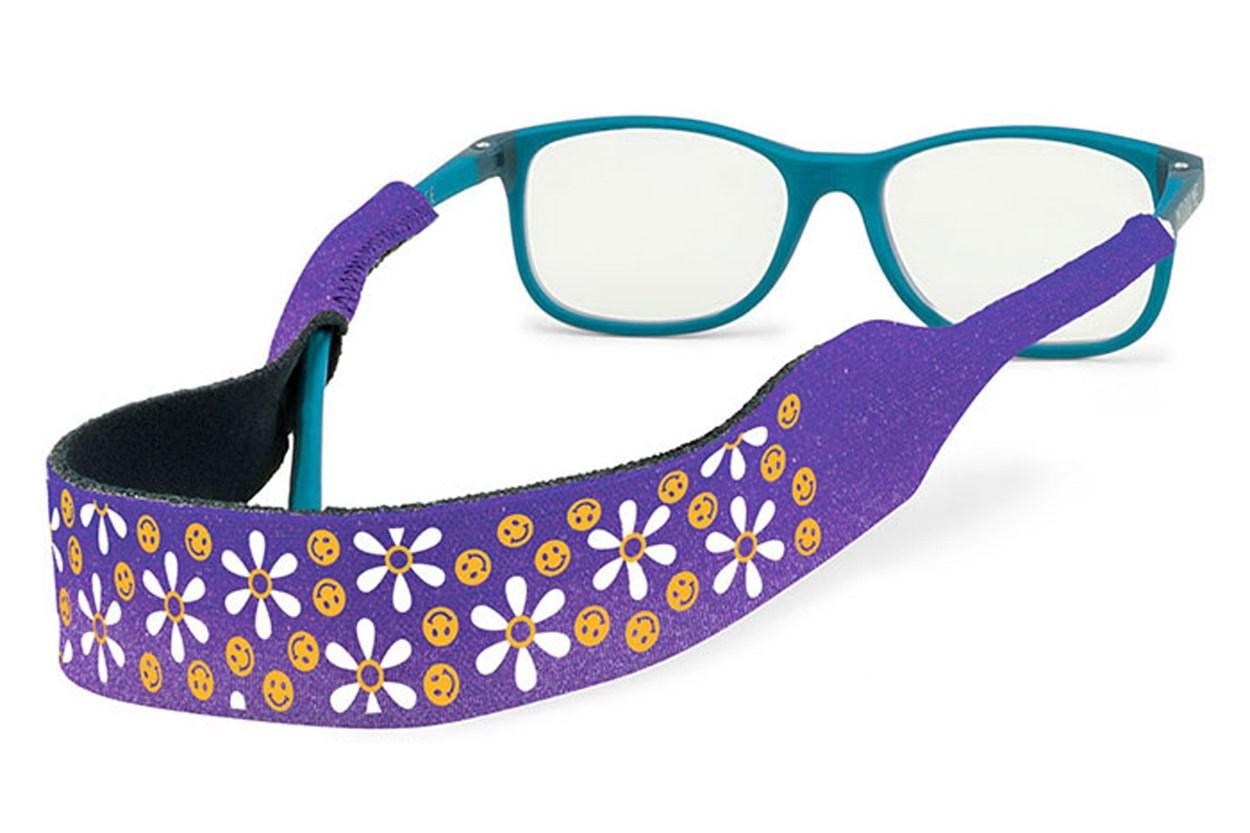 Kids Print Croakies Purple GlassesChainsStraps