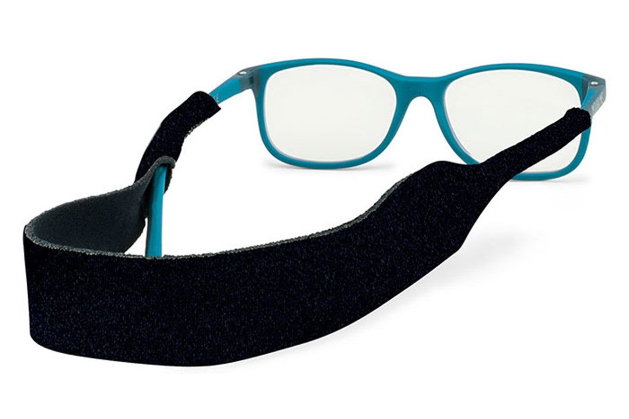 Alternate Image 1 - Kids Solid Croakies Black GlassesChainsStraps