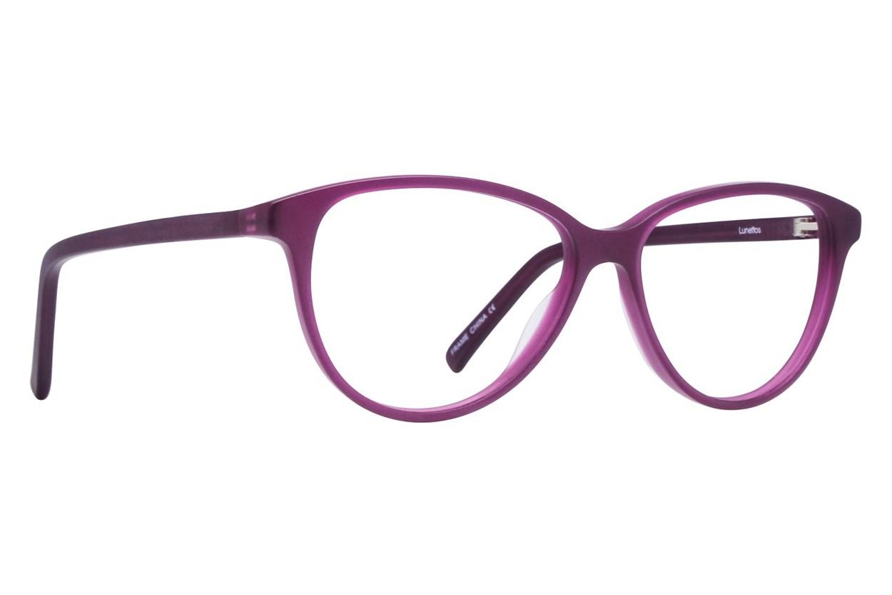 Lunettos Hannah Purple Glasses