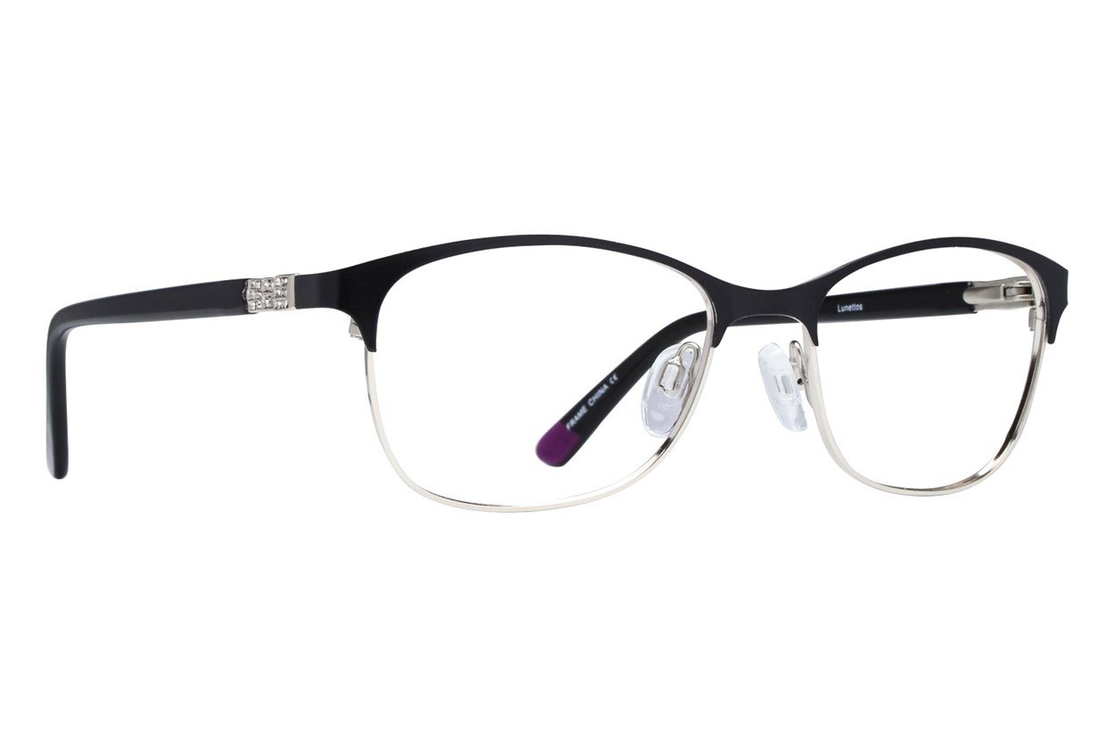 Lunettos Riley Black Glasses