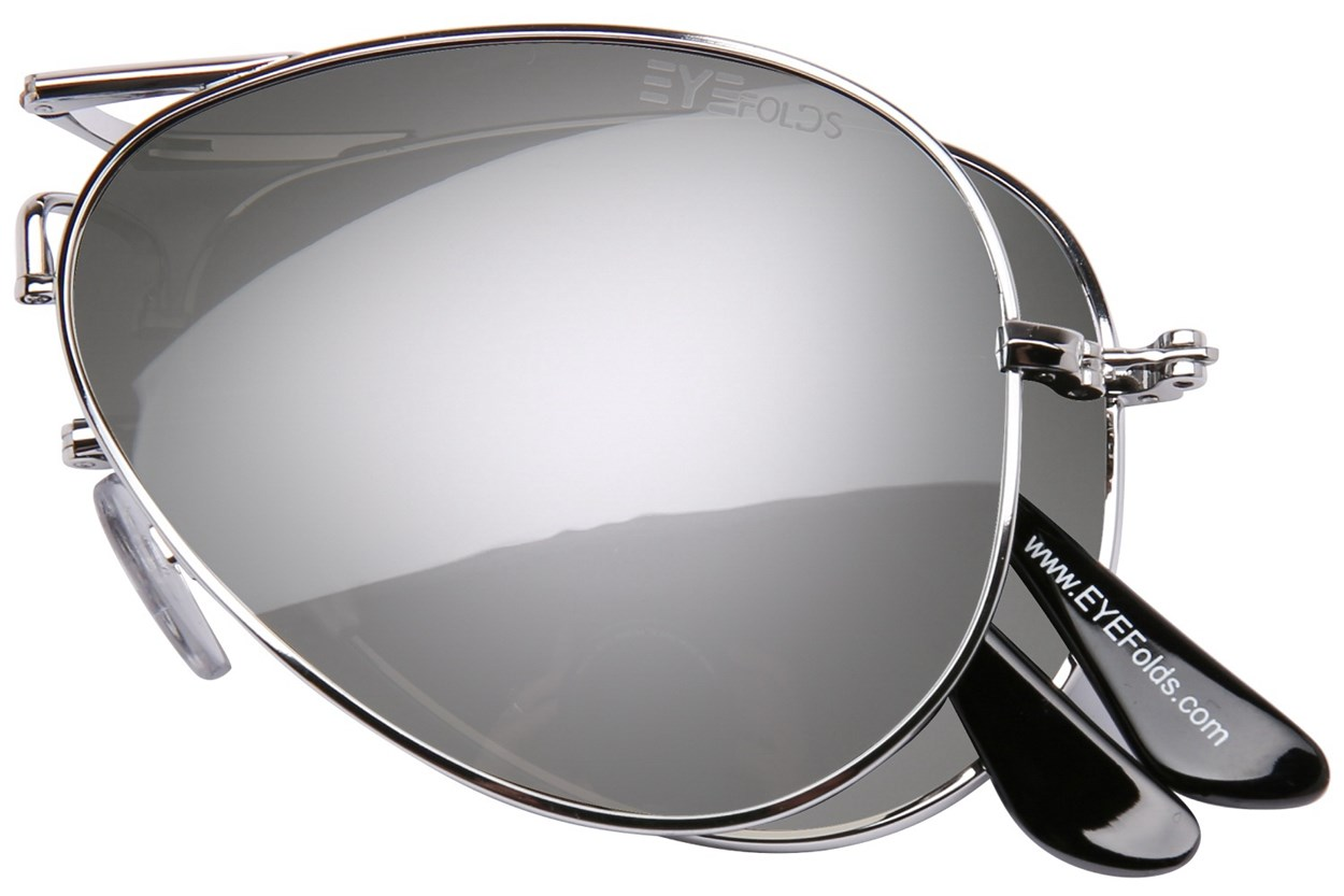 Alternate Image 1 - Eyefolds The Ace Silver Sunglasses