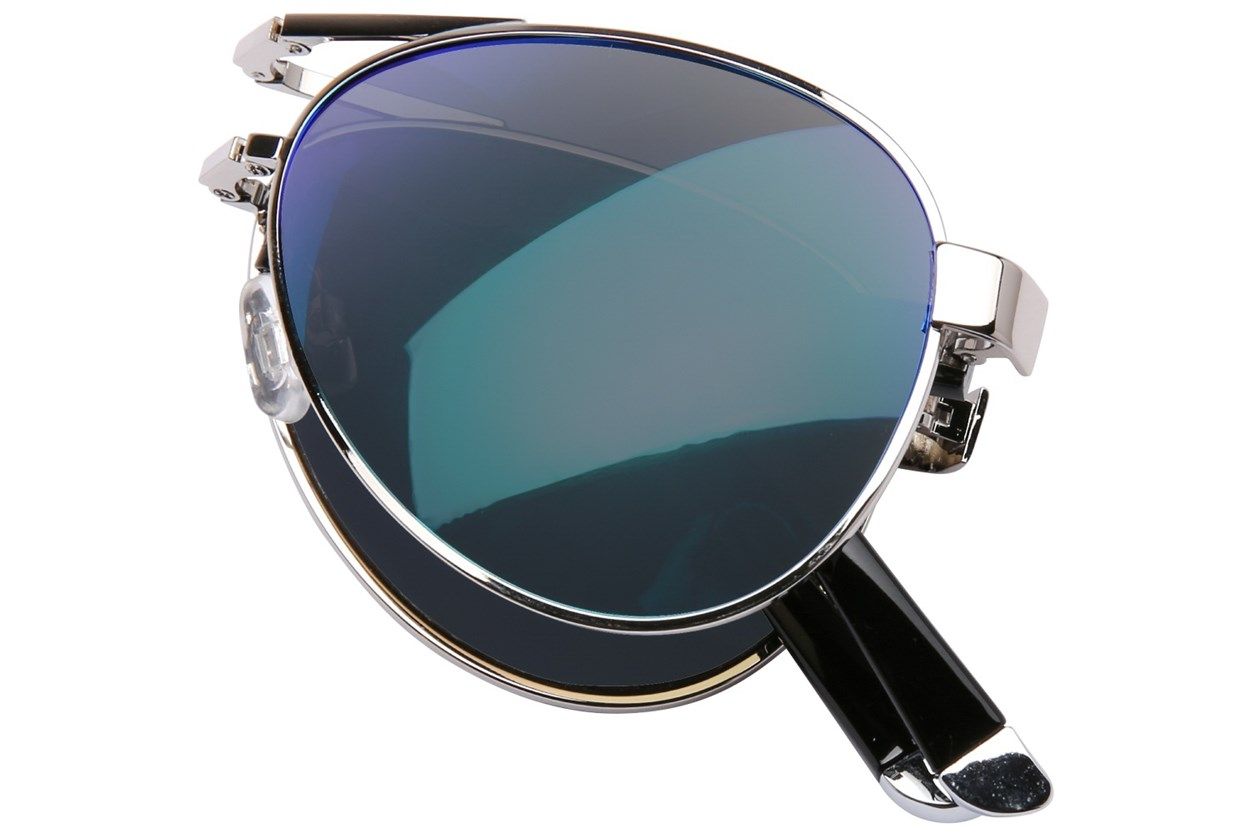 Alternate Image 1 - Eyefolds The Pilot Silver Sunglasses
