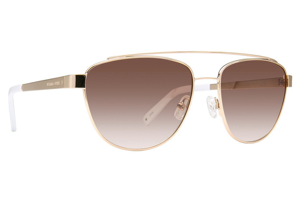 Kendall + Kylie Lexi Gold Sunglasses