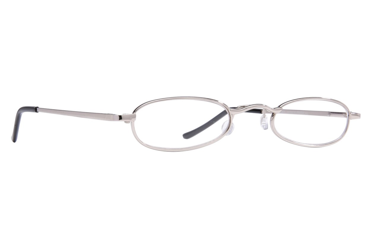 I Heart Eyewear Tube Reading Glasses Silver