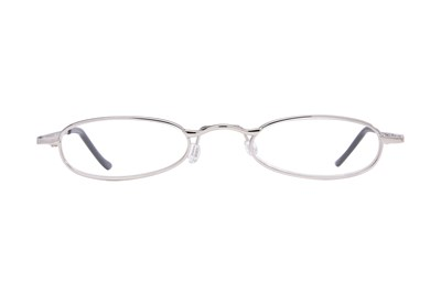 I Heart Eyewear Tube Reading Glasses Silver