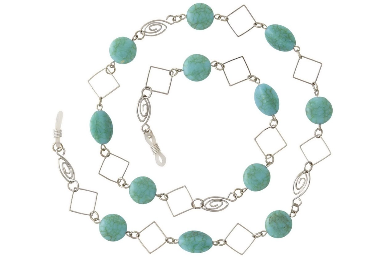 I Heart Eyewear Cali-Turquoise Chain  GlassesChainsStraps
