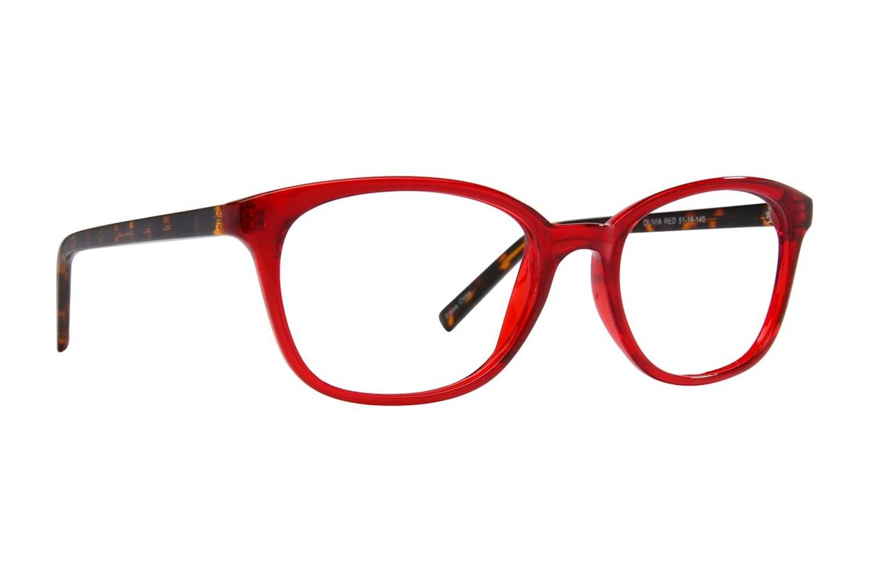 Affordable Designs Olivia Red Glasses