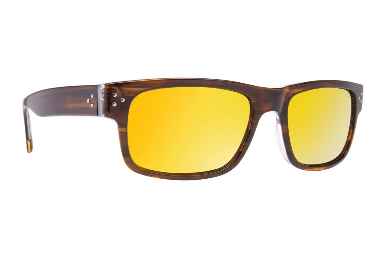 Randy Jackson RJRU S925P Brown Sunglasses