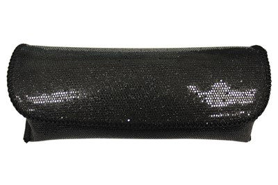 Opti-Pak Sequin Eyeglass Case Black