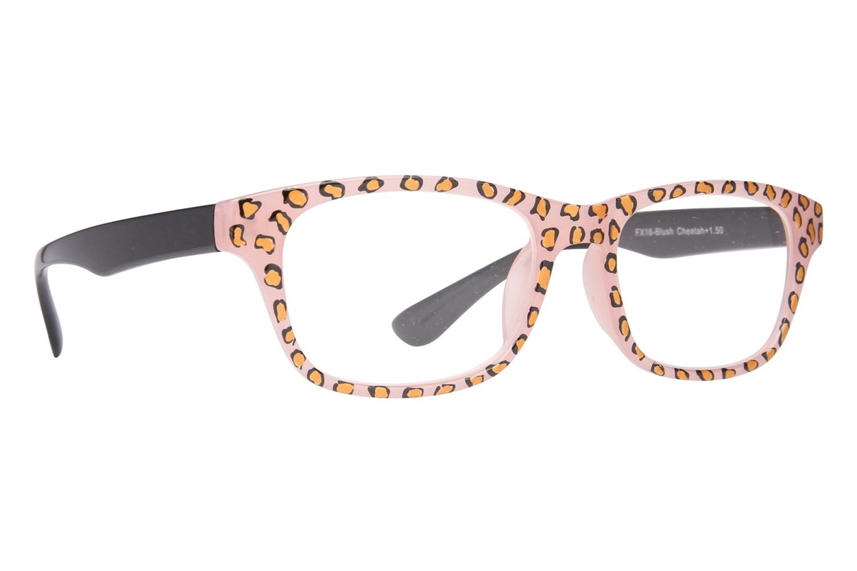 Evolutioneyes Handpainted Blush Cheetah Reading Glasses Tan ReadingGlasses