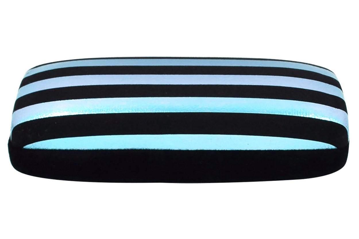 Evolutioneyes Velvet Stripe Eyeglass Case Black GlassesCases