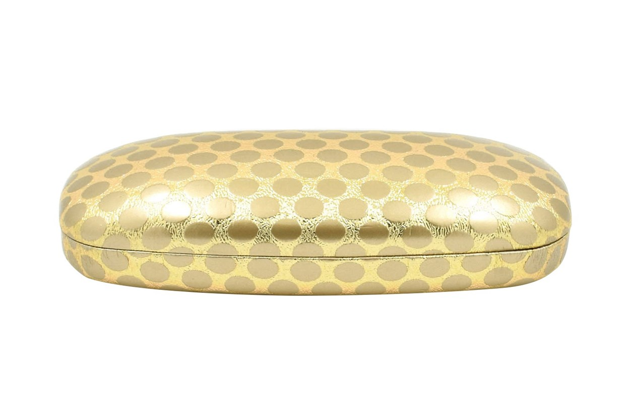 Evolutioneyes Polka-Dot Eyeglass Case 50 - Gold