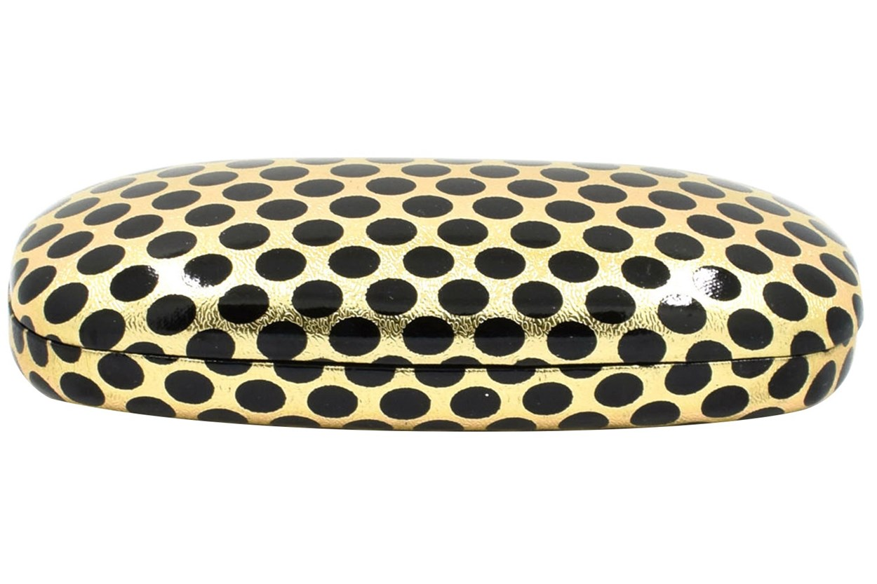 Evolutioneyes Polka-Dot Eyeglass Case Black GlassesCases