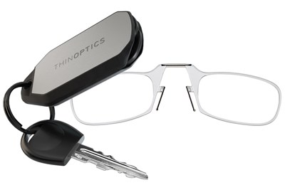 ThinOPTICS Keychain Case & Readers Clear