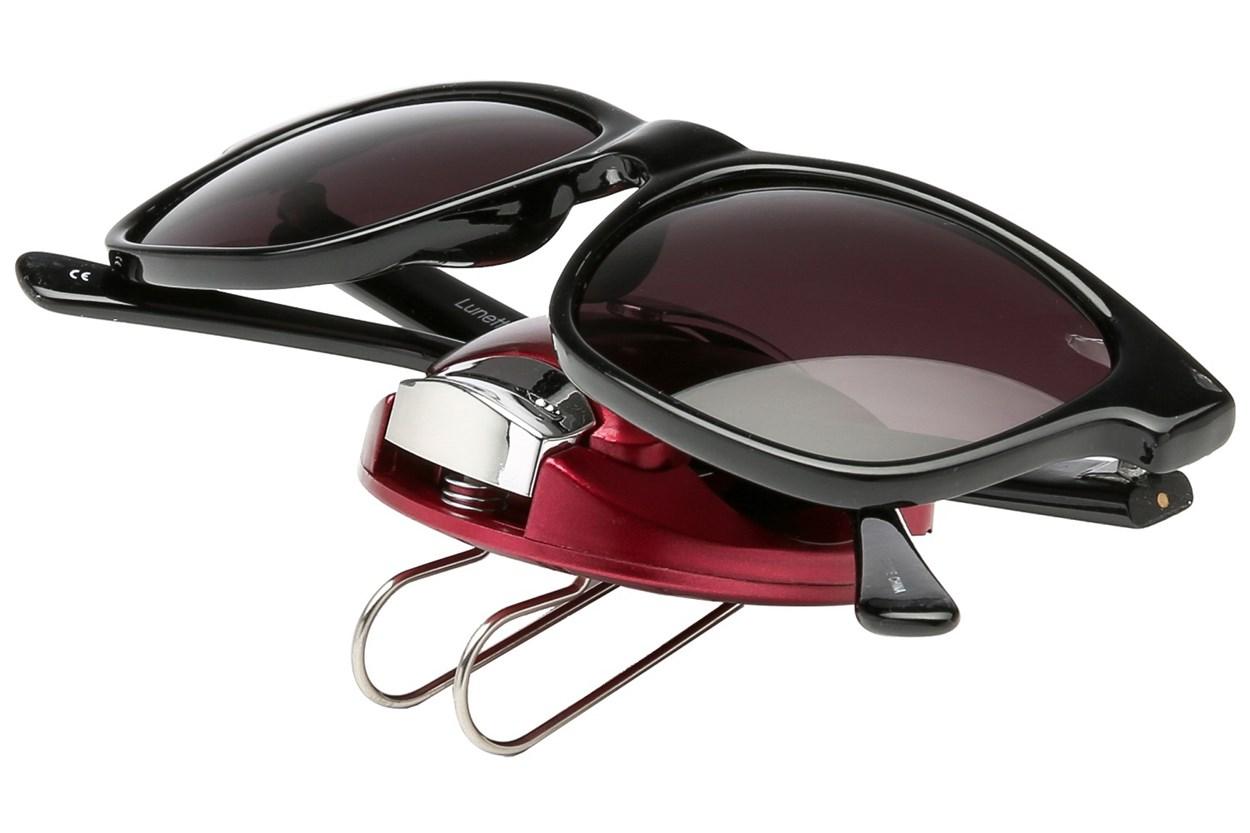Alternate Image 1 - I Heart Eyewear Metallic Visor Clips Red OtherEyecareProducts