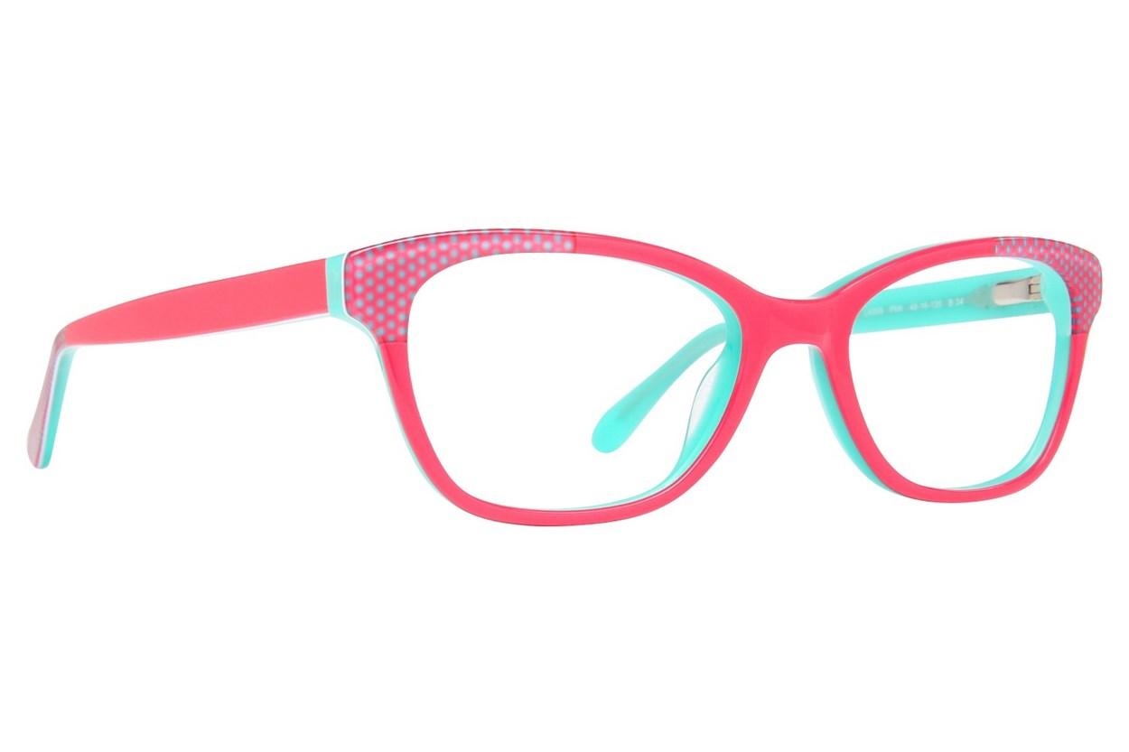 Lulu Guinness LK009 Pink Glasses