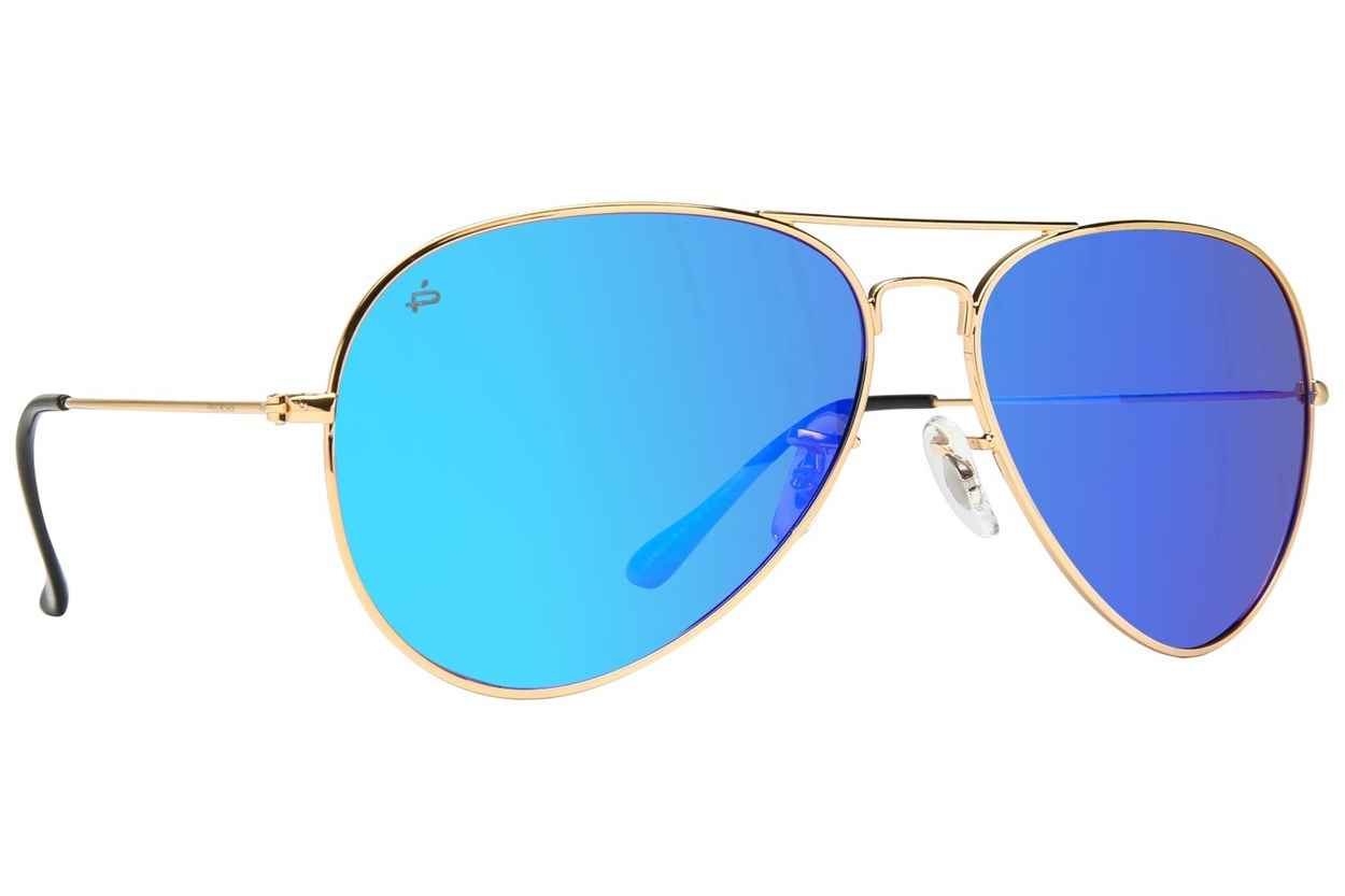 Prive Revaux The Commando Gold Sunglasses