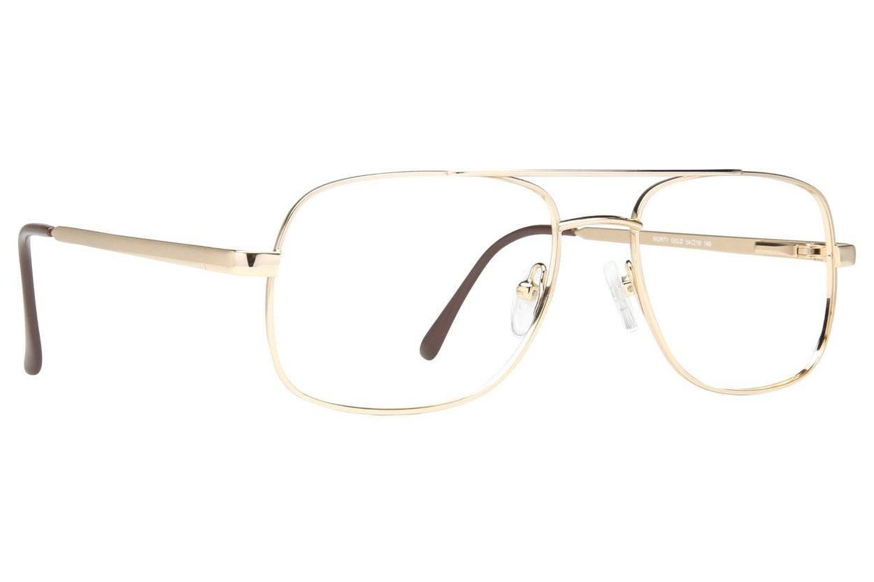Eight To Eighty Eyewear Morty Gold Glasses