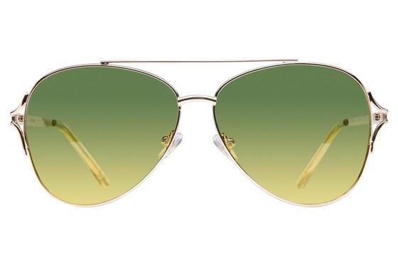Angel ByeFelicia Polarized Gold Sunglasses
