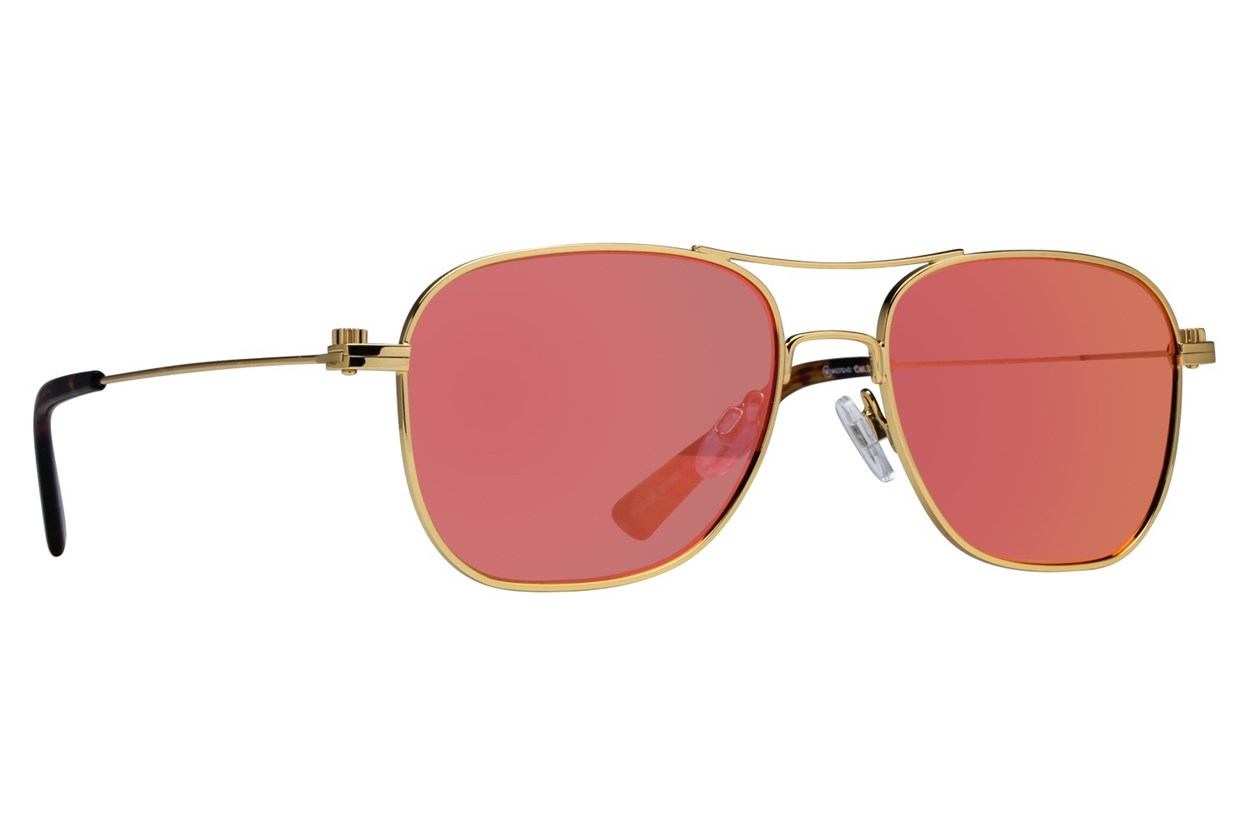 Westend Franklin Park Gold Sunglasses