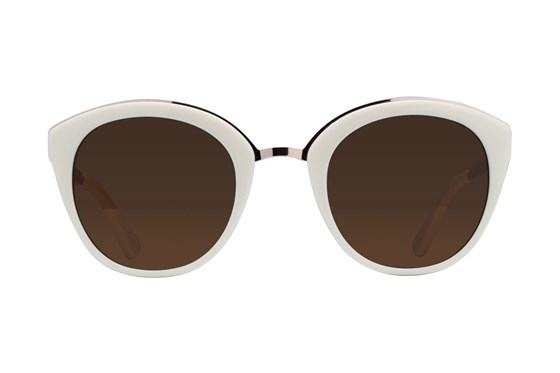 Westend New Albany White Sunglasses