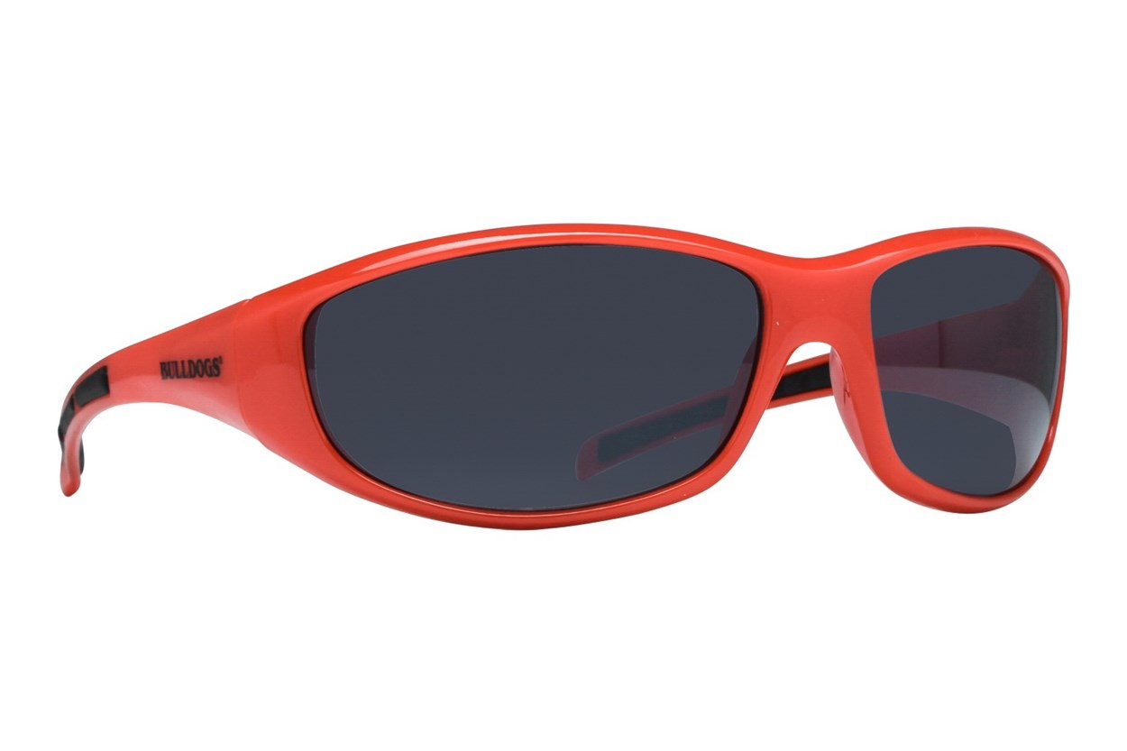 NCAA Georgia Bulldogs Wrap Sunglasses Orange Sunglasses