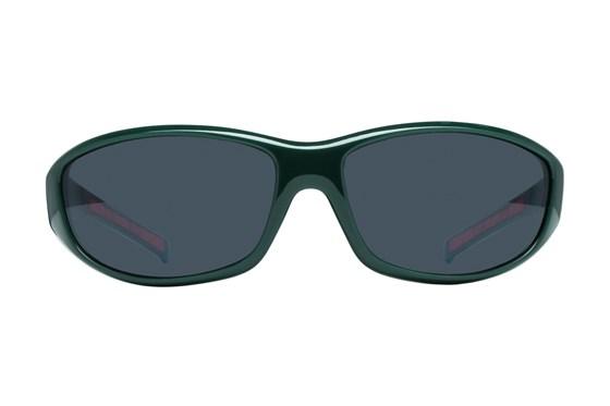 NCAA Miami Hurricanes Wrap Sunglasses Green Sunglasses