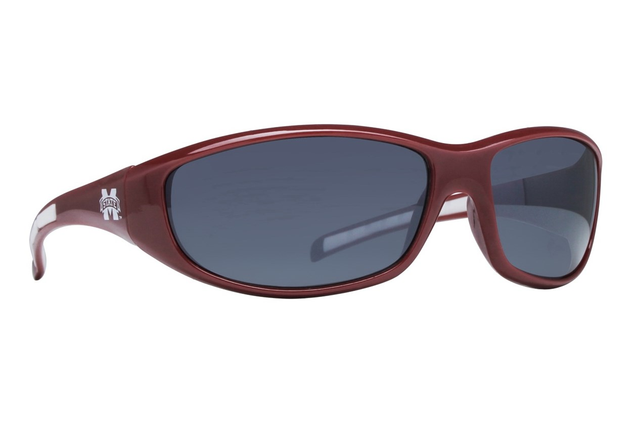 NCAA Mississippi State Bulldogs Wrap Sunglasses Red Sunglasses