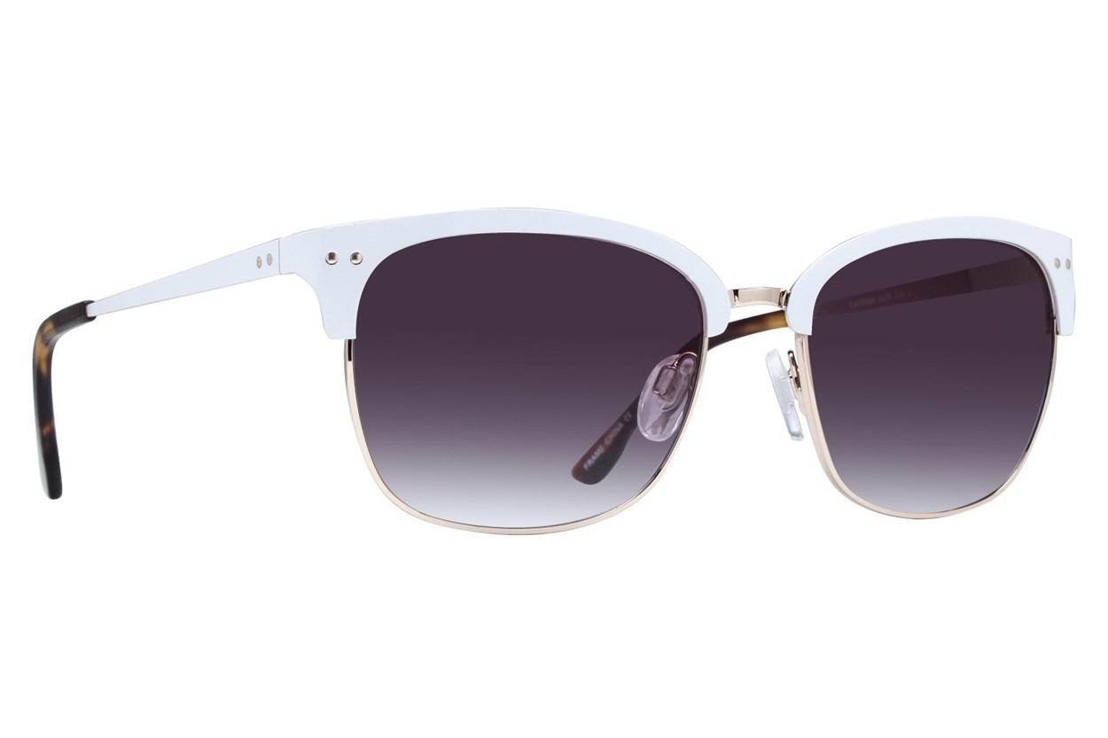 Lunettos Phoenix White Sunglasses