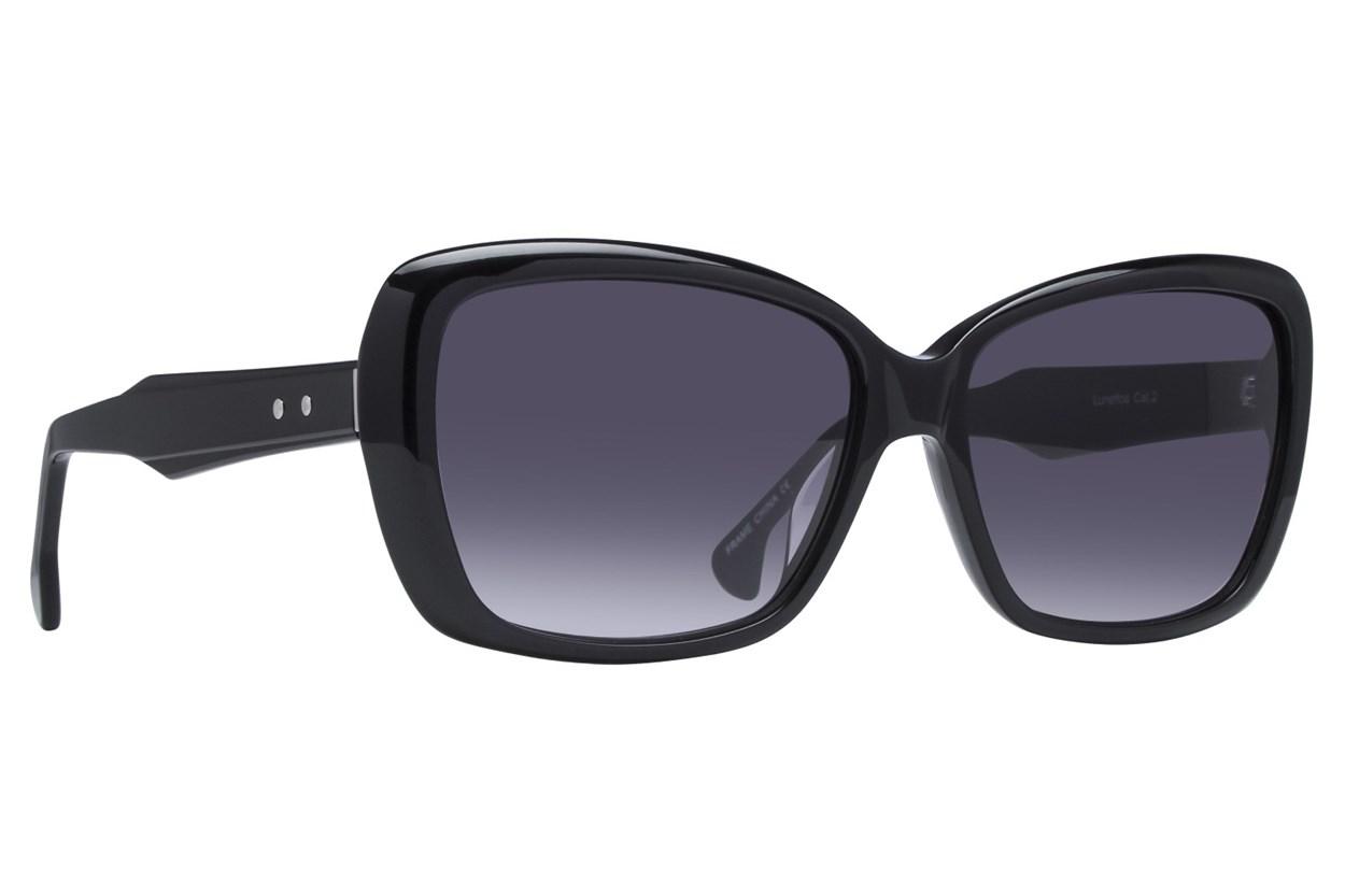 Lunettos Sally Black Sunglasses