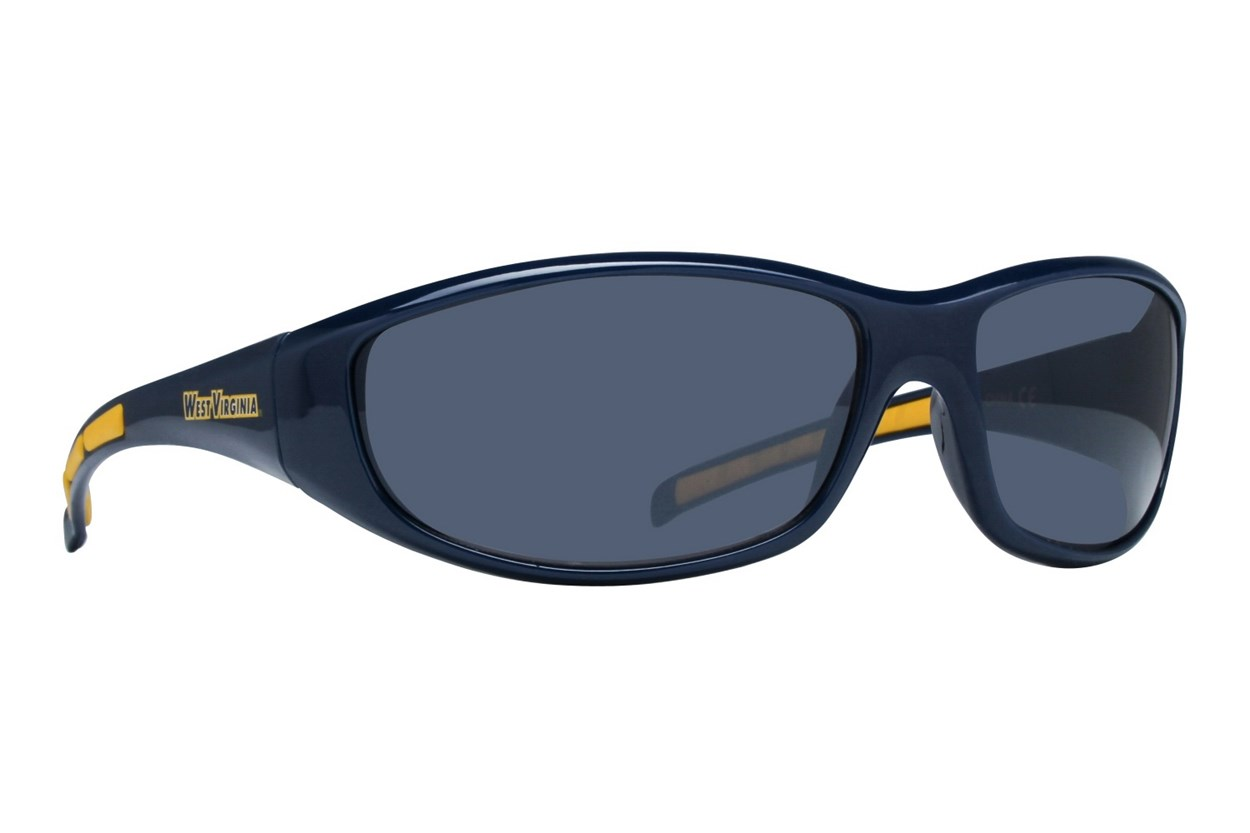 NCAA West Virginia Mountaineers Wrap Sunglasses Blue Sunglasses