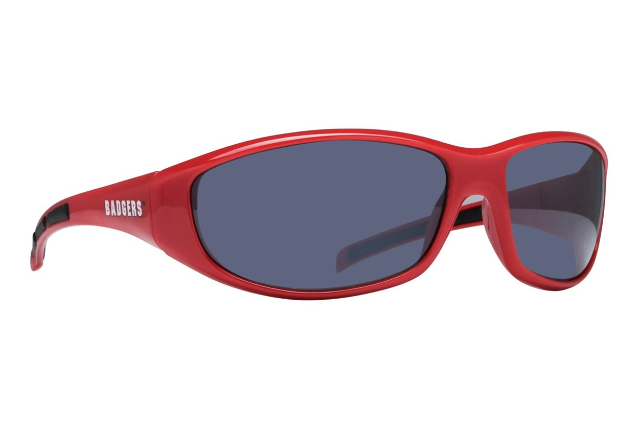 NCAA Wisconsin Badgers Wrap Sunglasses Red Sunglasses