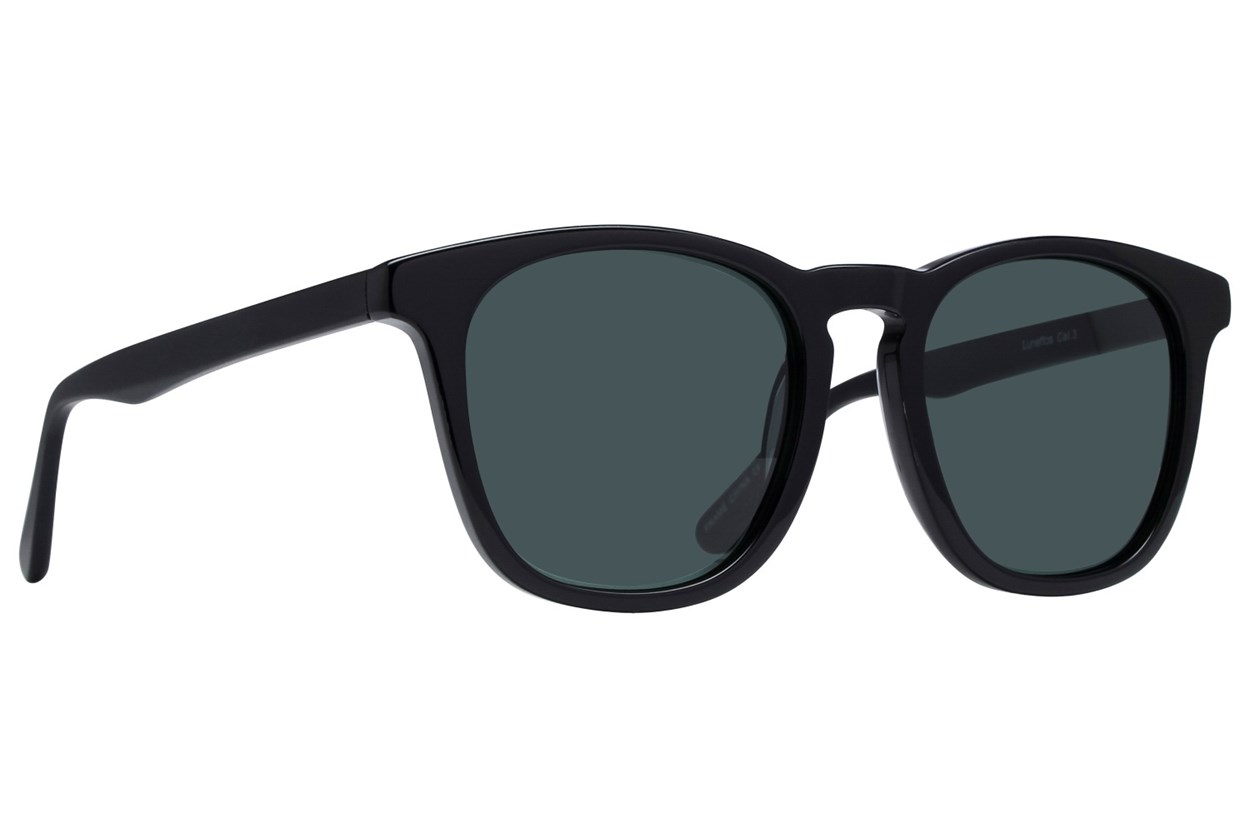 Lunettos Aldrin Black Sunglasses