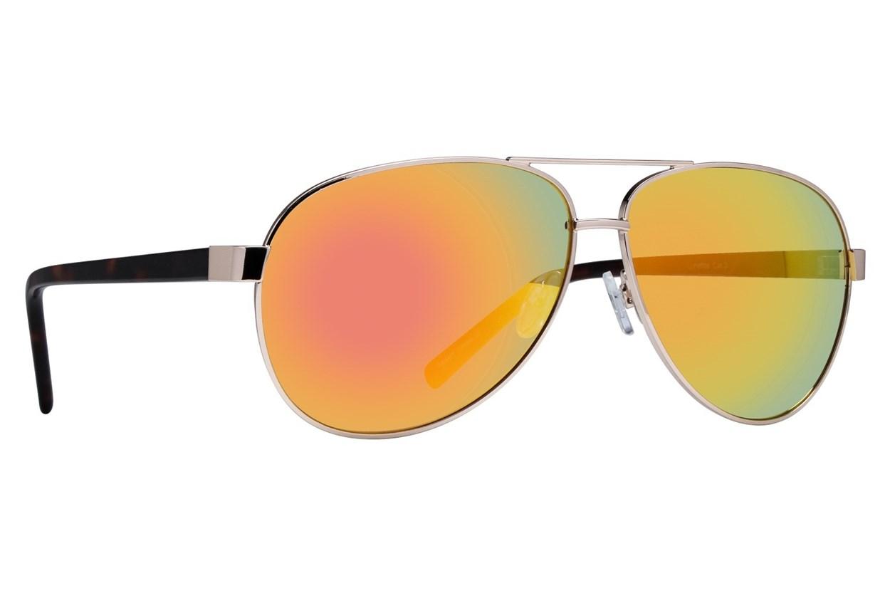 Lunettos Dana Gold Sunglasses
