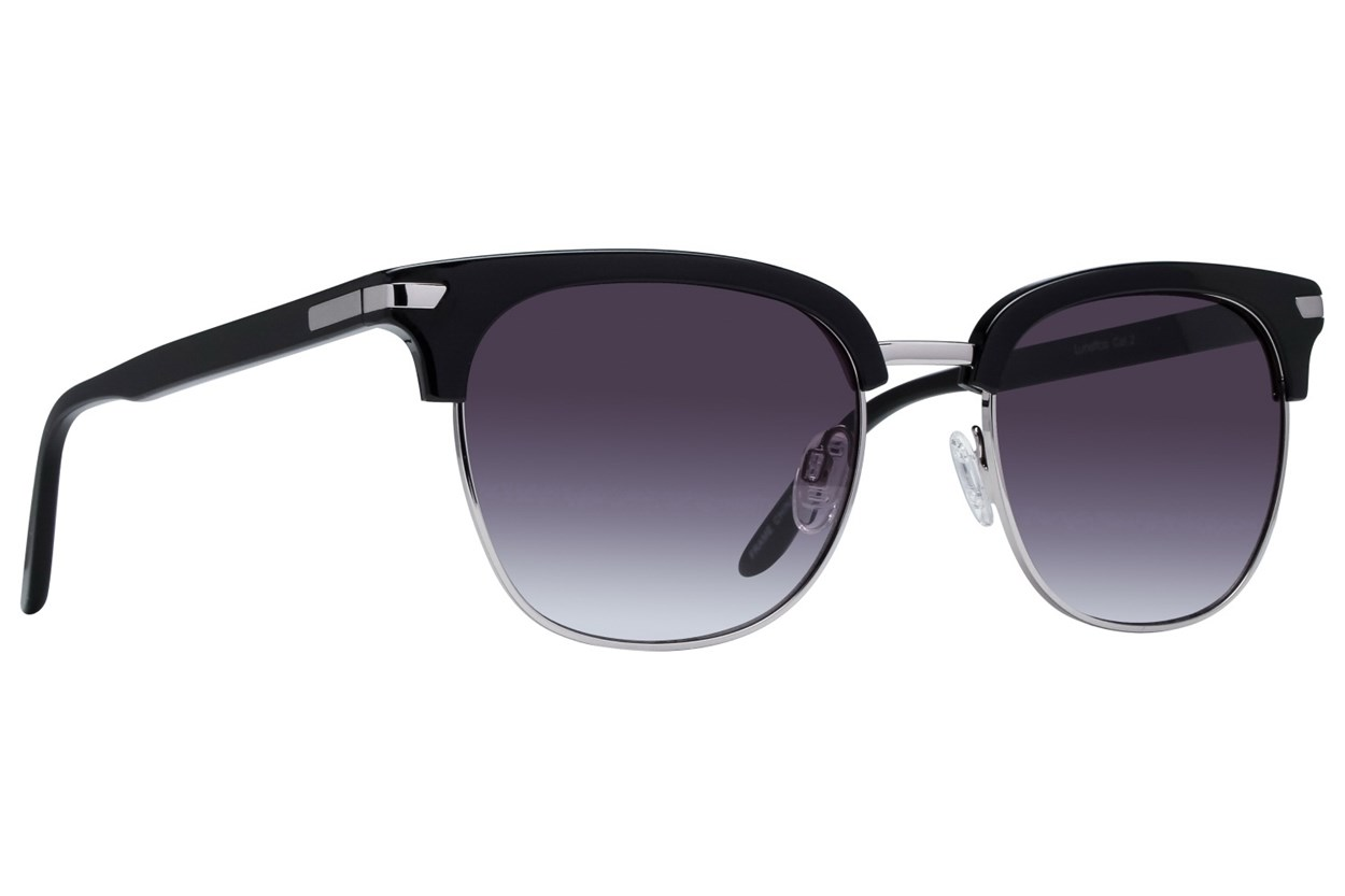 Lunettos Glenn Black Sunglasses