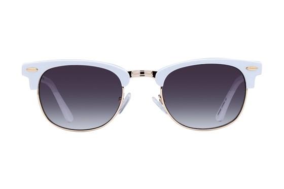 Lunettos Iris White Sunglasses