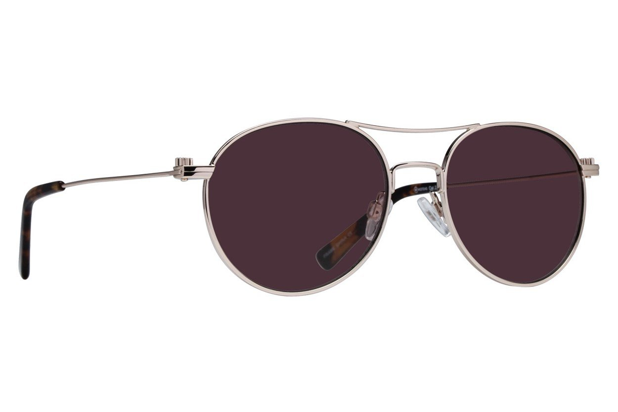 Westend Short North Sunglasses - Gold